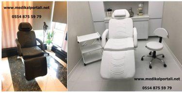 3 motorlu cilt bakım koltuğu, bakım koltuğu, dermatoloji koltuğu, saç ekim koltuğu,