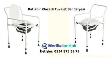 Katlanır Tekerleksiz Hasta Tuvalet Sandalyesi Komot 12