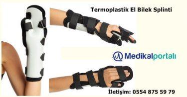Termoplastik Dinamik El Bilek Splinti Ortezi Ateli 1